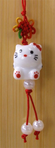 Mobile phone & bag charm Hello Kitty Lucky Cat - 237